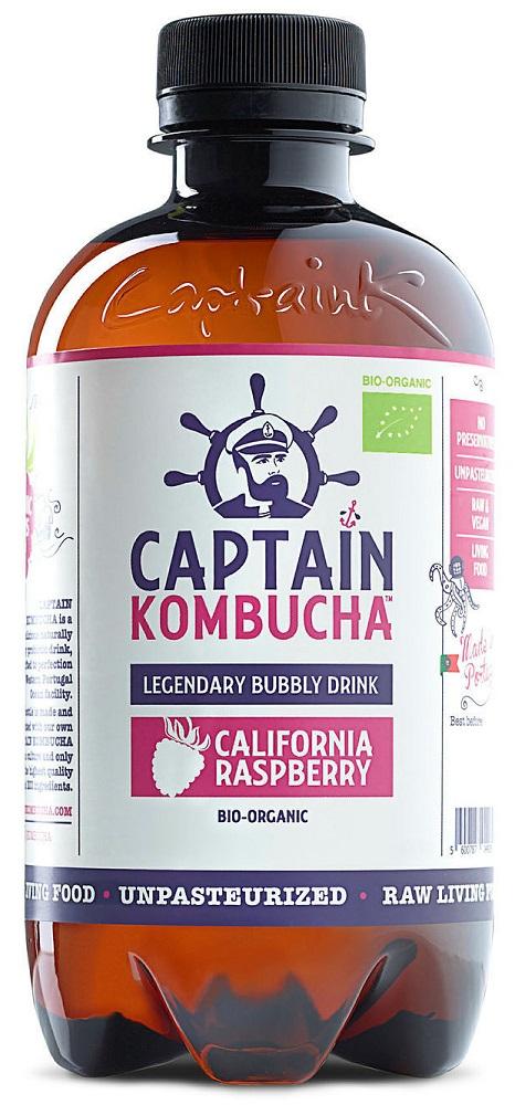 The GUTsy Captain Kombucha California Raspberry