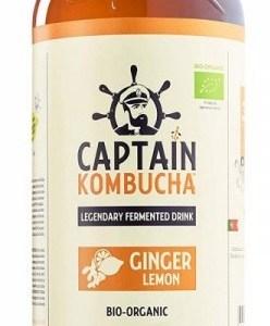 The GUTsy Captain Kombucha Ginger Lemon