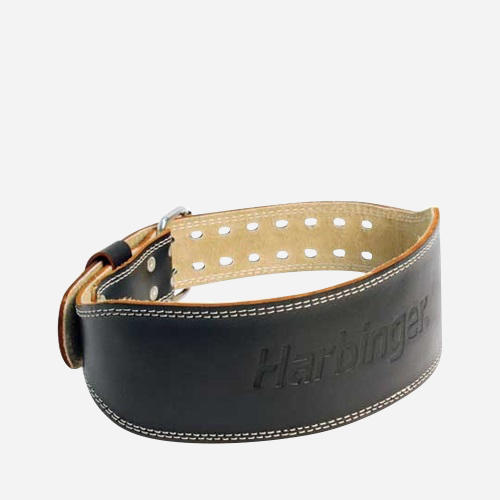 4 Inch Padded Leather Belt - Large