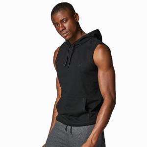 Men's Sleeveless Hoody Black
