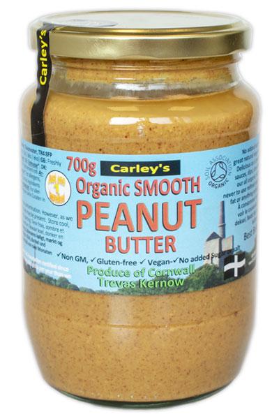 Carley's Biologische Peanut Butter Smooth 700 Gram