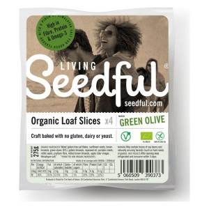 Living Seedful Biologische Seedful Bread Slices with Green Olives 275 Gram
