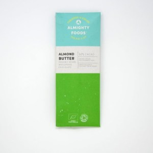 Almighty Foods Biologische Almond Butter Chocolate Bar 30 Gram