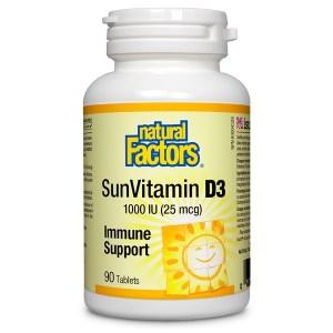 Natural Factors SunVitamin D3 90 Tabletten