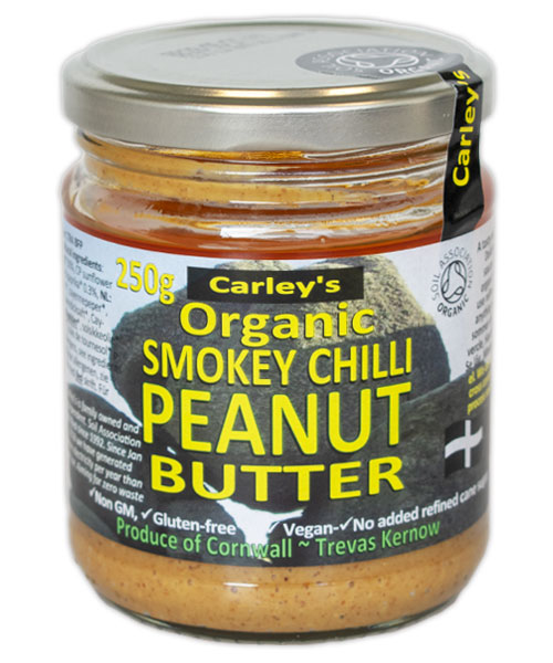 Carley's Biologische Smokey Chilli Peanut Butter 250 Gram Aanbieding