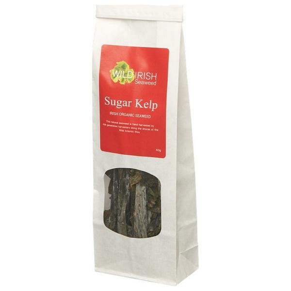 Wild Irish Seaweed Biologische Sugar Kelp (Laminaria Saccharina) Leaves 40 Gram