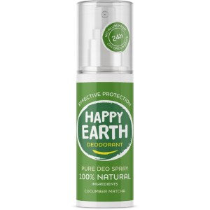 Happy Earth Deodorant Spray Cucumber Matcha 100 ml