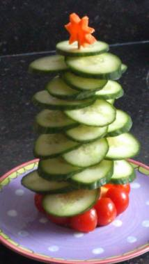 komkommer kerstboom 2