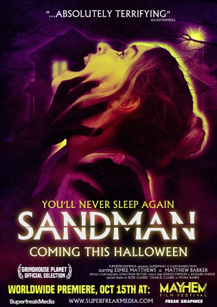 Sandman Neon Poster 1