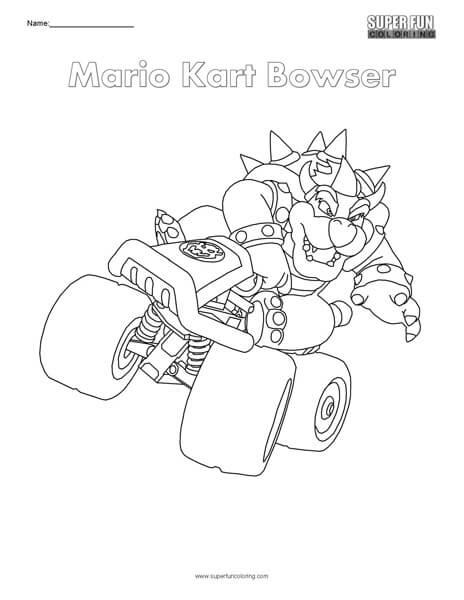 Mario Cart Coloring Pages : mario, coloring, pages, Mario, Bowser-, Nintendo, Coloring, Super