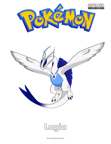Lugia Pokemon Coloring Pages : lugia, pokemon, coloring, pages, Pokémon, Lugia, Coloring, Super