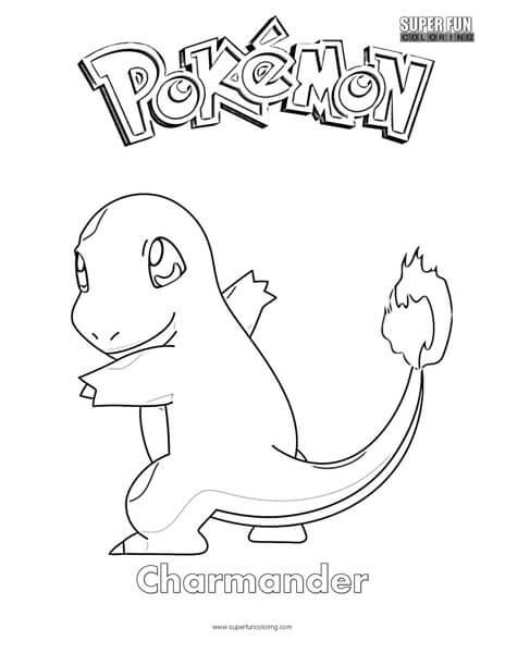 Pokemon Coloring Pages Charmander : pokemon, coloring, pages, charmander, Pokémon, Charmander, Coloring, Super