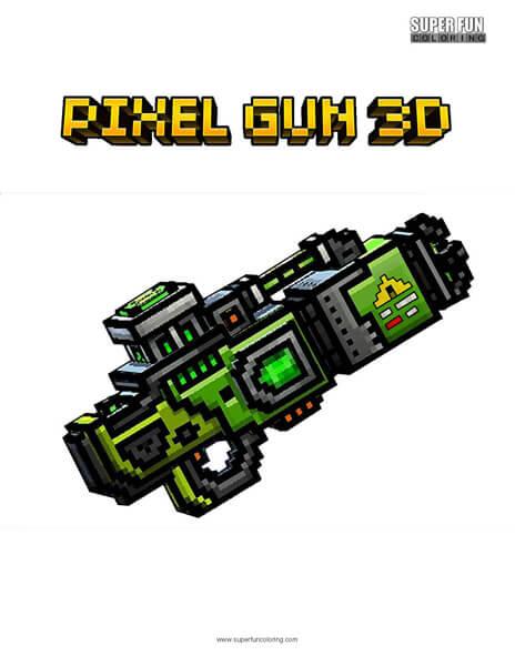 Pixel Gun 3d Coloring Page Super Fun Coloring