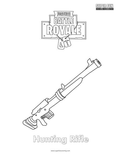 Hunting Rifle Fortnite Coloring Page Super Fun Coloring