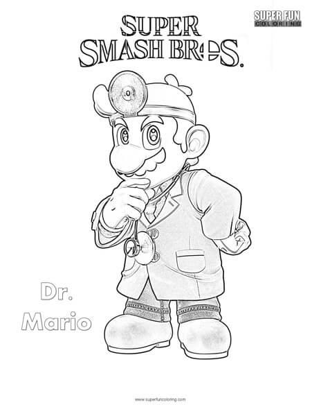 Super Smash Bros Ultimate Mario Coloring Pages