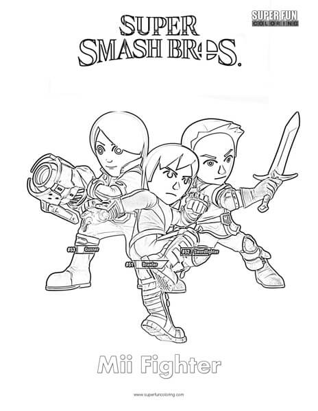 Mii Coloring Pages Sketch Coloring Page