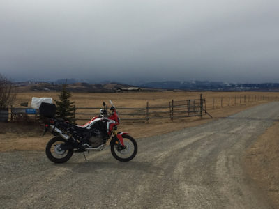 First Ride of the Africa Twin - Longview, AB