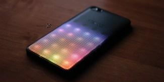 Пример работы LED-крышки Alcatel A5 LED