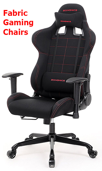 office chair fabric small bean bag gaming materials leather vs durability