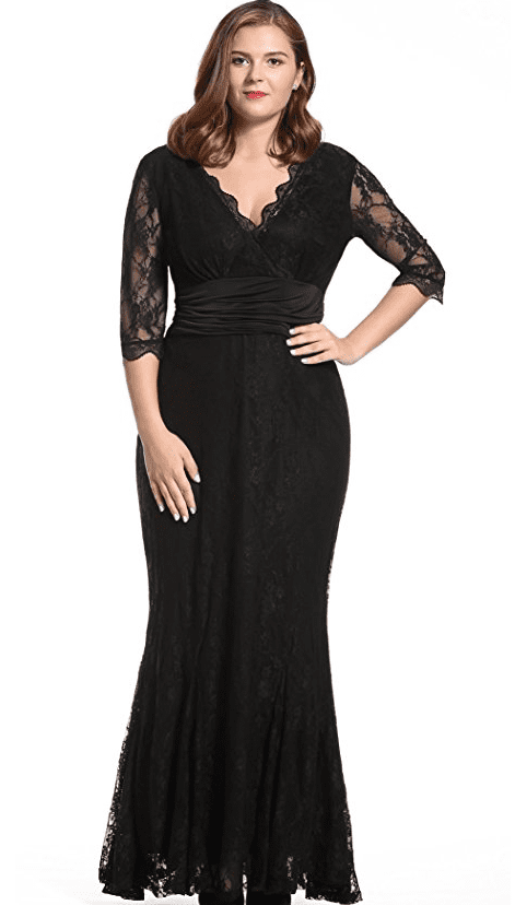 plus-size-v-neck-evening-long-lace-dress