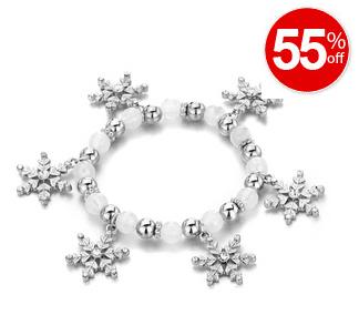 Snowflake Dangle Bracelet