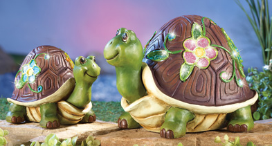Lovable Solar Lighted Garden Turtles