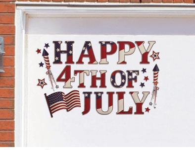 Patriotic Holiday Garage Door Magnet Set
