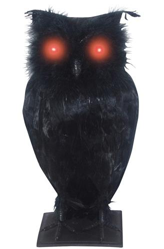 Light Up Black Owl
