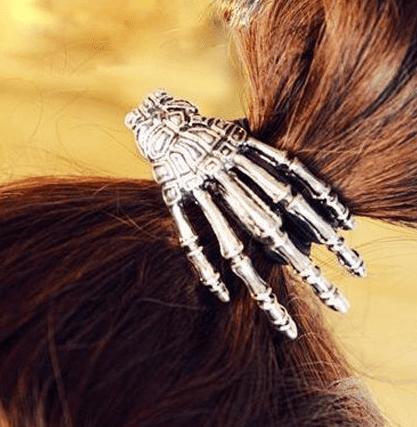Skeleton Hand Embellished Elastic Hair Band