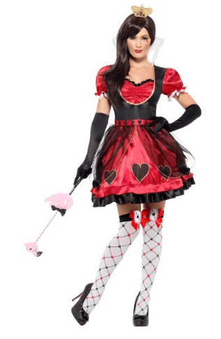 Plus Size Queen of Wonderland Costume