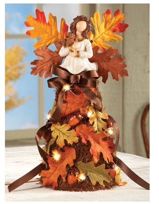 Lighted Harvest Angel Centerpiece from Collections Etc.