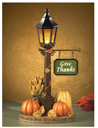 Lighted Thanksgiving Lamp Post Decoration from Collections Etc.