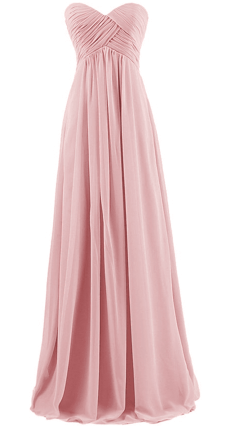 Dresstells® Sweetheart Bridesmaid Chiffon Dress