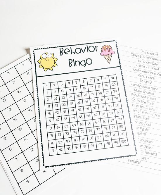 Behavior Bingo- Summer Strategies With Kids