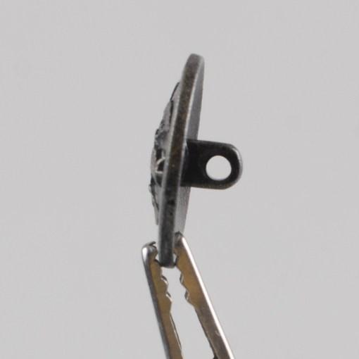 Polski guzik kolejowy z orłem wzór 1928 kolor stary mosiądz śr. 21 mm