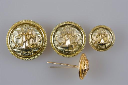 Marynarski guzik wojskowy wzór 2019 złoty śr. 16, 22, 25 mm