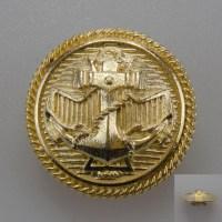 Marynarski guzik wojskowy wzór 2019 złoty śr. 25 mm (II wersja z krótszym uszkiem)