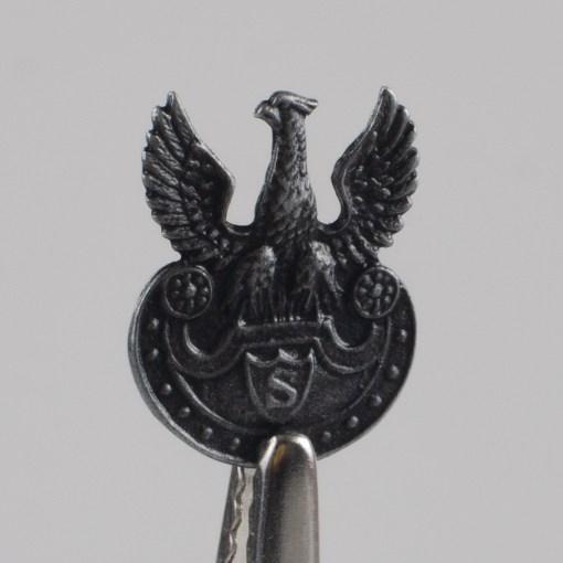 Orzełek Strzelecki Legionów Polskich (Orzełek Piłsudskiego) miniatura, stare srebro