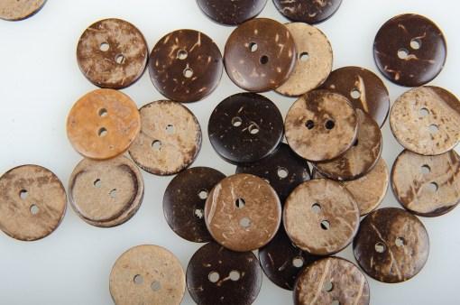 Guziki kokosowe do przyszycia 15 mm