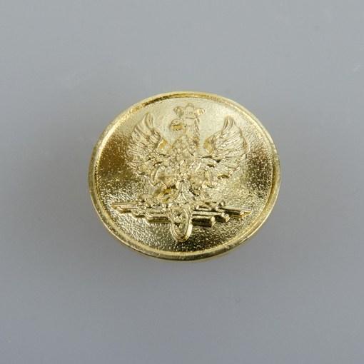 Kolejowy polski guzik współczesny złoty śr. 16 mm