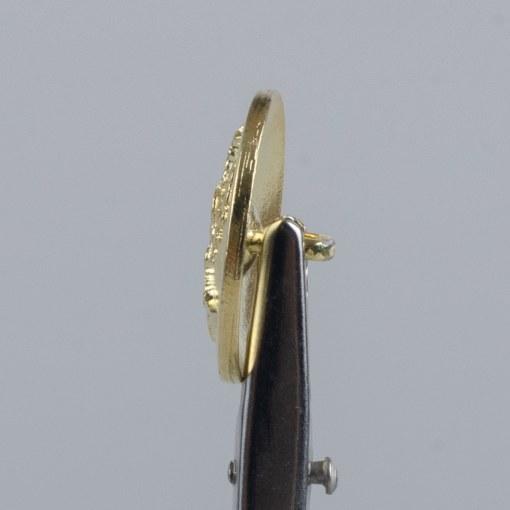 Kolejowy polski guzik współczesny złoty śr. 22 mm