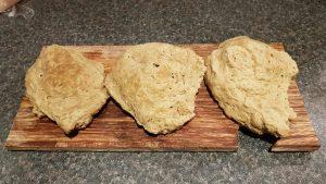 Cooked seitan dough