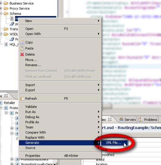 Screenshot - Eclipse - Generate XML from XSD