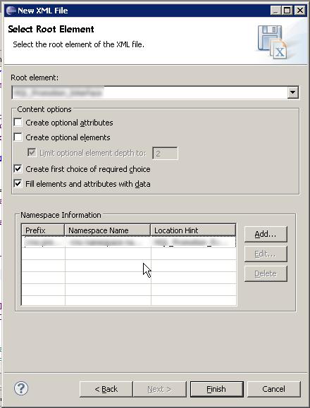 Screenshot - Generate XML - New file dialogue