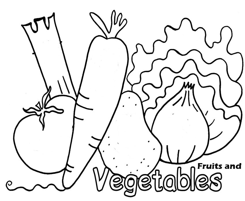 Vegetables Coloring Pictures For Preschoolers