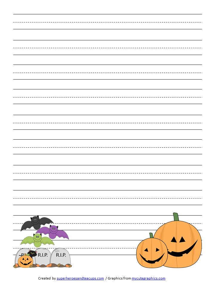 Red And Blue Lined Handwriting Paper Printable Four Line Pages