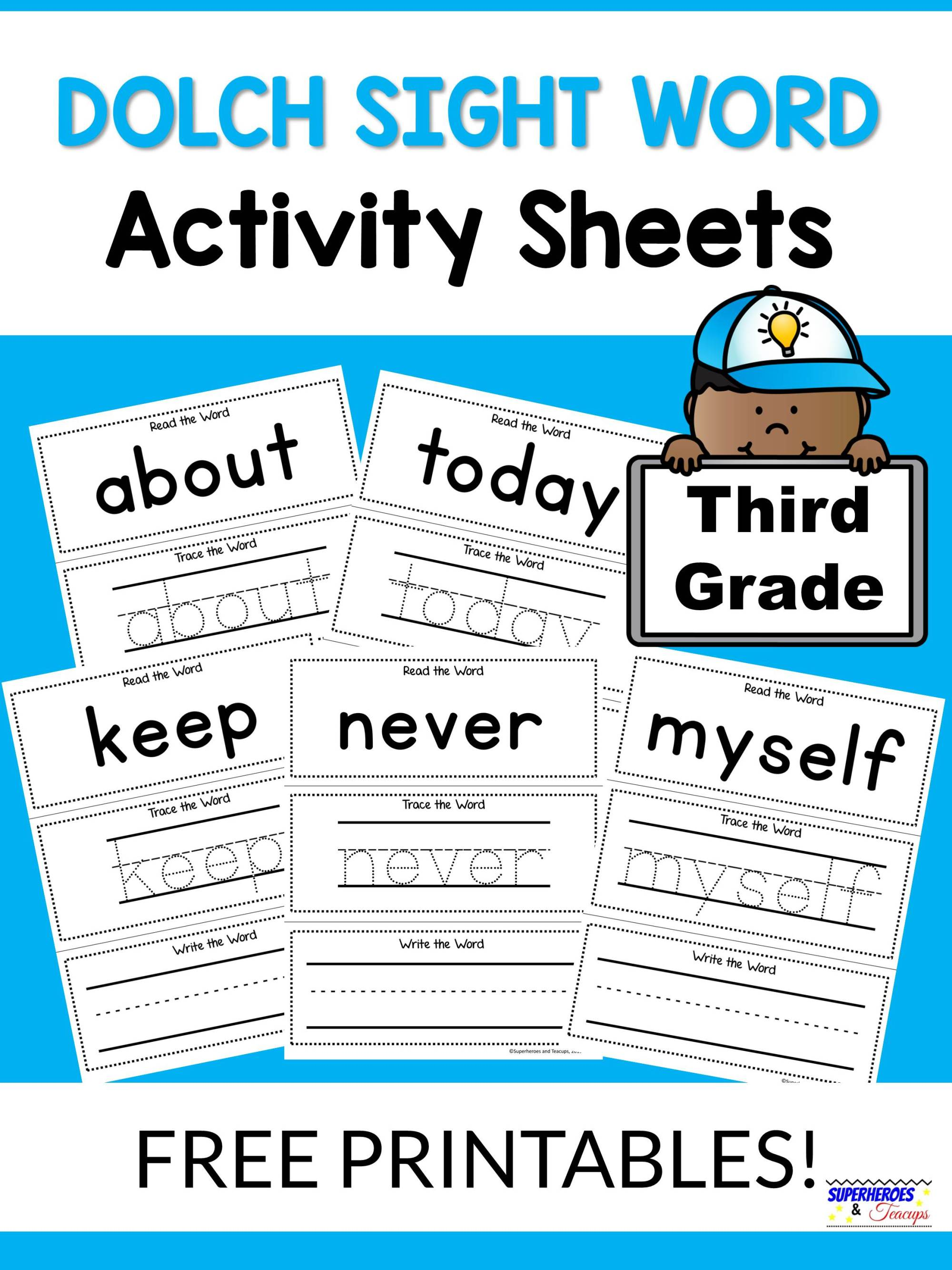hight resolution of Third Grade Dolch Words Worksheets   Printable Worksheets and Activities  for Teachers