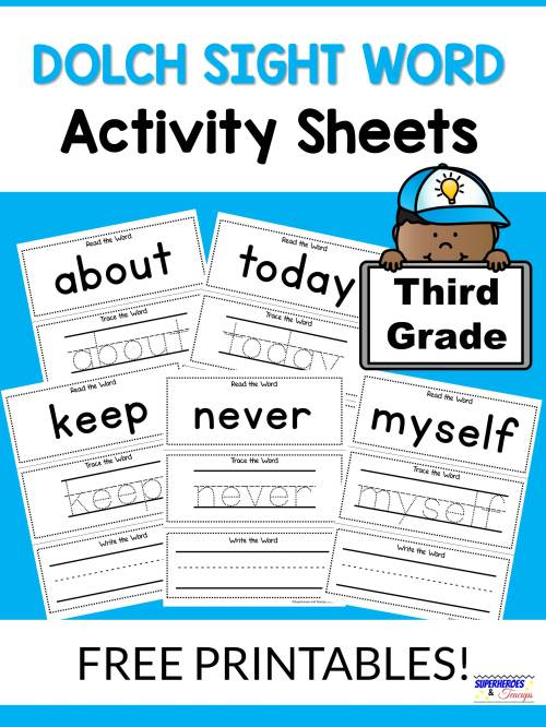 small resolution of Third Grade Dolch Words Worksheets   Printable Worksheets and Activities  for Teachers