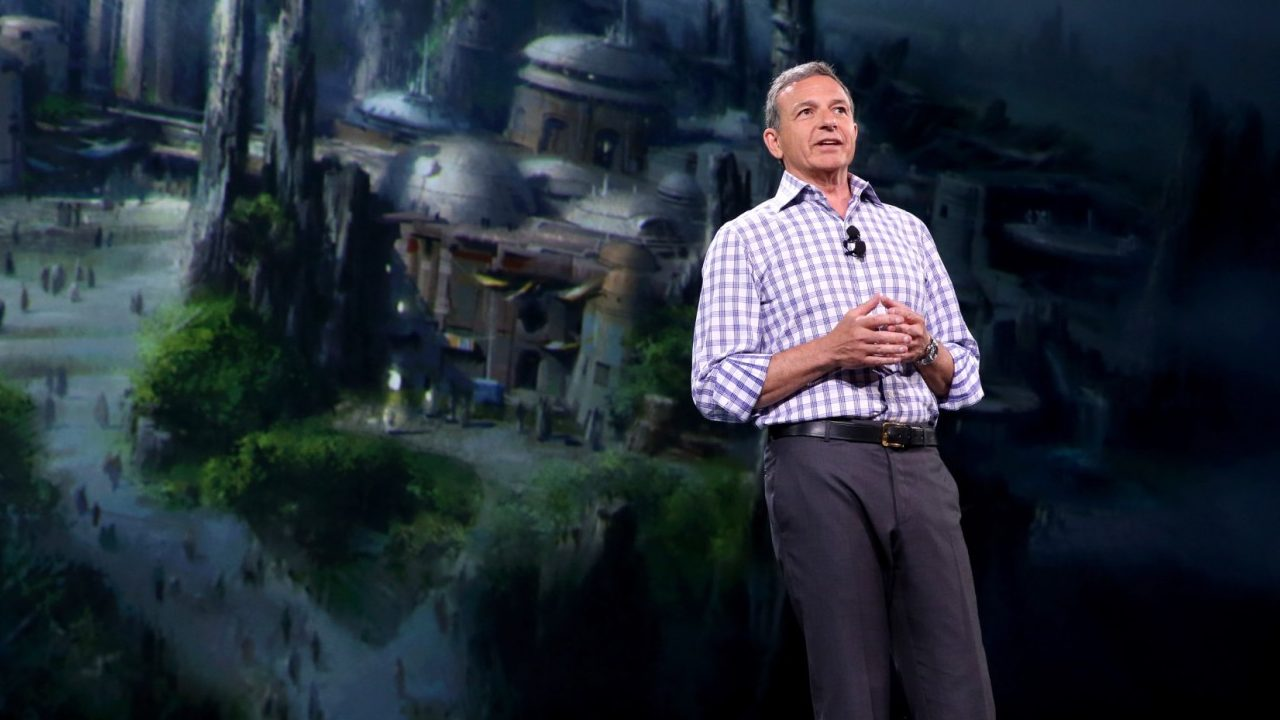 "ANAHEIM, CA - AUGUST 15:  The Walt Disney Company Chairman and CEO Bob Iger took part today in ""Worlds, Galaxies, and Universes: Live Action at The Walt Disney Studios"" presentation at Disney's D23 EXPO 2015 in Anaheim, Calif.  (Photo by Jesse Grant/Getty Images for Disney)"