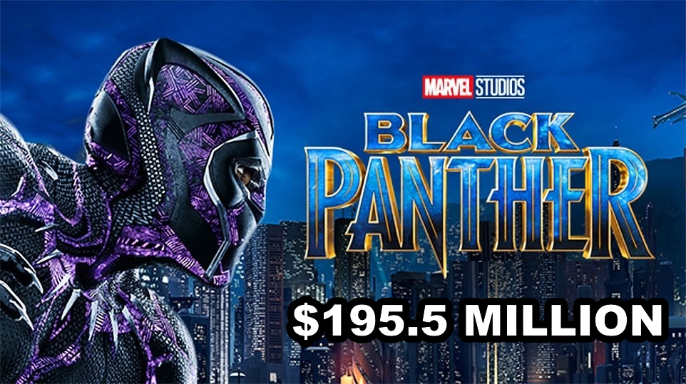 Black Panther banner featured box office 195.5